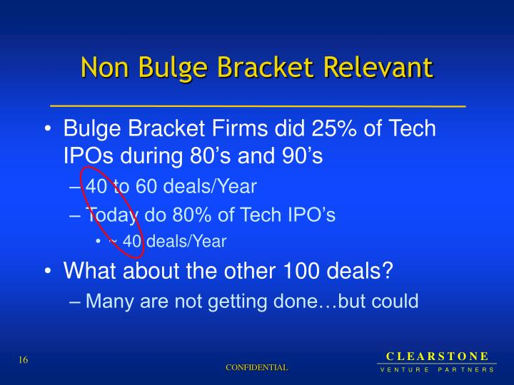 Non Bulge Bracket Relevant