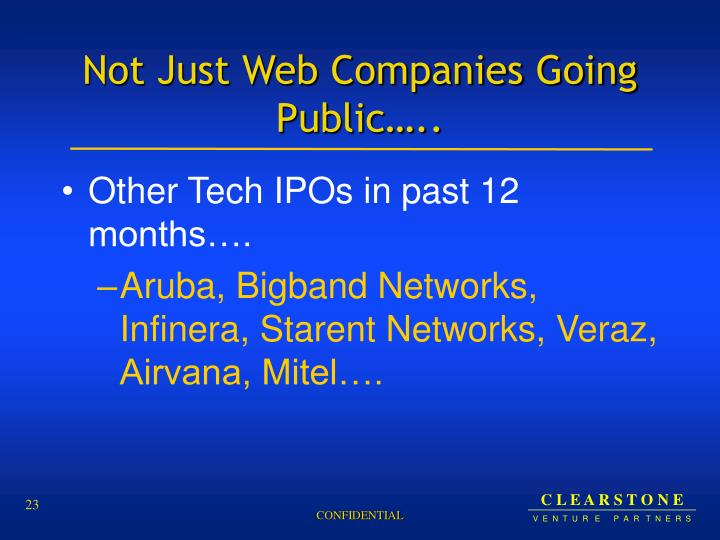 Not Just Web Companies Going Public…..