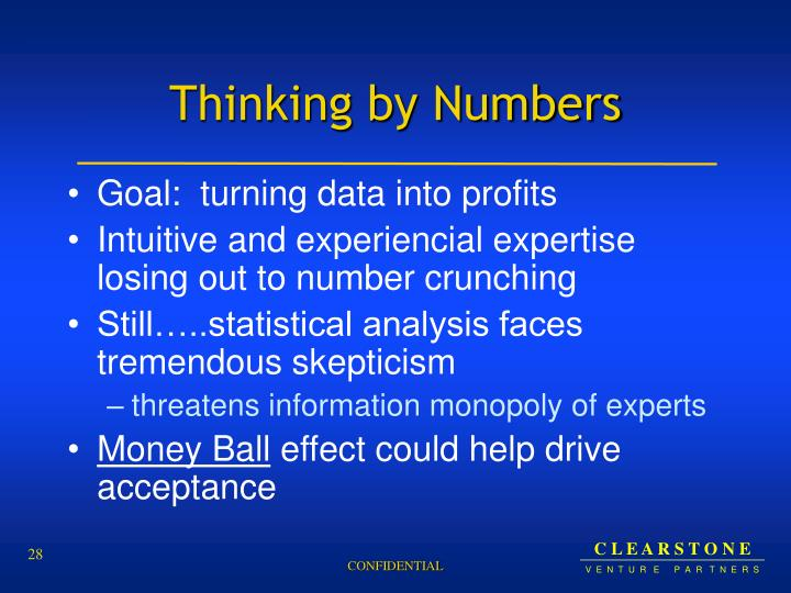 Thinking by Numbers