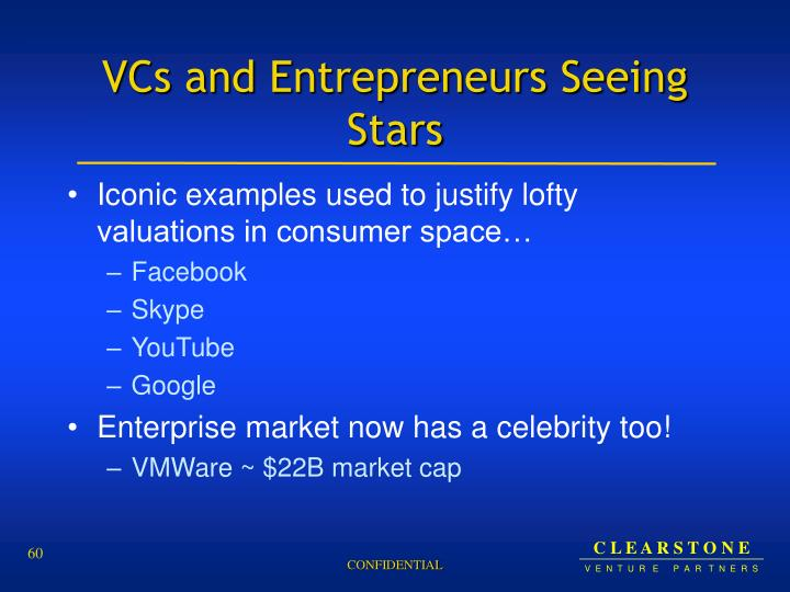 VCs and Entrepreneurs Seeing Stars