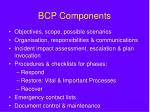 bcp components