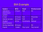 bia example