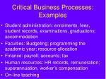 critical business processes examples