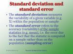 standard deviation and standard error