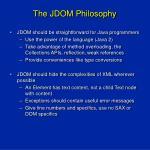 the jdom philosophy