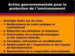 action gouvernementale pour la protection de l environnement