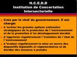 h c e d d institution de concertation intersectorielle