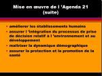 mise en uvre de l agenda 21 suite