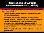 plan national d actions environnementales pnae