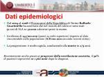 dati epidemiologici