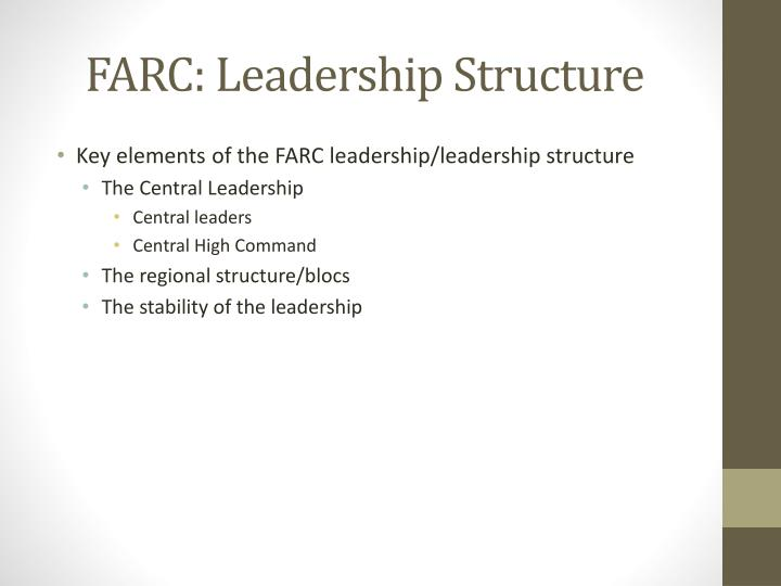 farc leadership structure n.