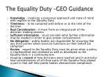 the equality duty geo guidance