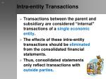 intra entity transactions