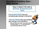 unrealized inventory gain other issues