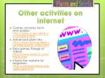 other activities on internet