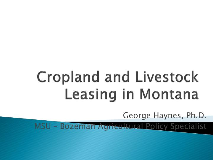 cropland and livestock leasing in montana n.