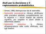 aiuti per la decisione e il ragionamento probabilistico