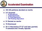 accelerated examination1