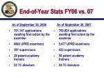 end of year stats fy06 vs 07