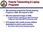 patents teleworking laptop programs