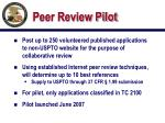 peer review pilot