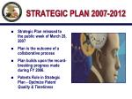 strategic plan 2007 2012
