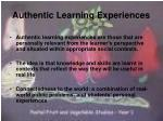 authentic learning experiences