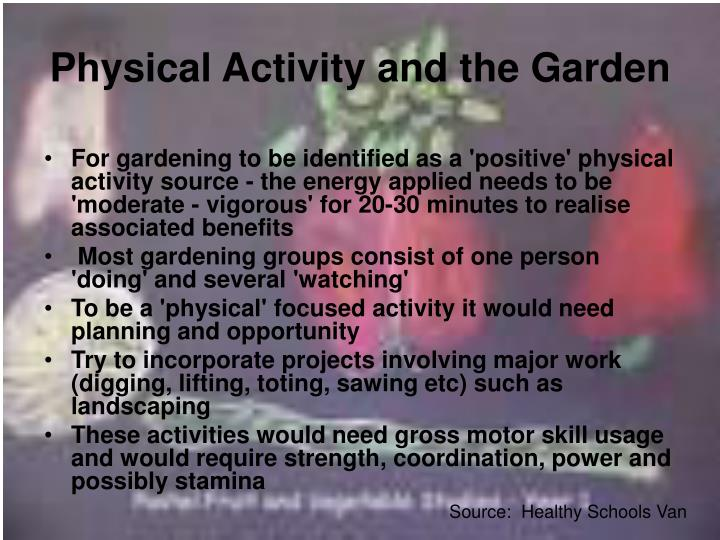 Physical Activity and the Garden