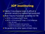 icp monitoring