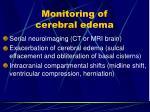 monitoring of cerebral edema2