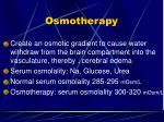 osmotherapy