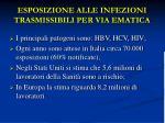 esposizione alle infezioni trasmissibili per via ematica