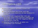 das ergebnis 1995