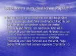 reaktionen zum deutschen papst2