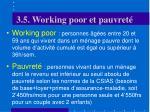 3 5 w orking poor et pauvret