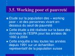 3 5 working poor et pauvret