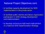 national project objectives cont