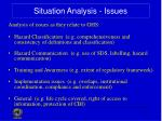 situation analysis issues