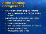 alpha blending configurations
