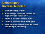 deinterlace inverse telecine