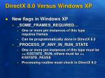 directx 8 0 versus windows xp1