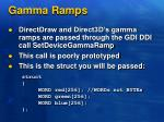 gamma ramps