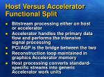 host versus accelerator functional split