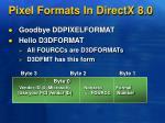 pixel formats in directx 8 0