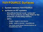 yuv fourcc surfaces