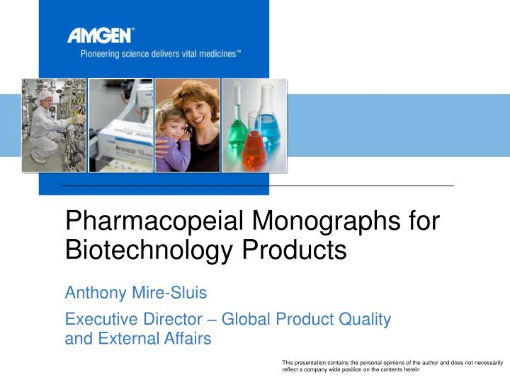 pharmacopeial monographs for biotechnology products n.