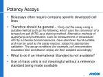 potency assays