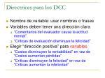 directrices para los dcc2