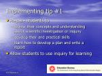 implementing tip 1