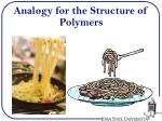 analogy for the structure of polymers